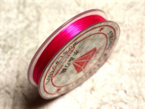 Fil Elastique 0.8-1mm Rose Fluo Fuchsia  4558550014146 Bobine 10m