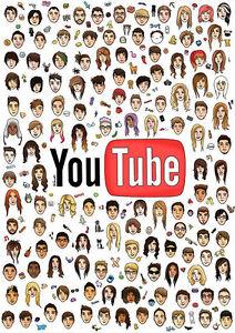 YouTube Poster, riesige coole Youtuber Sammlung, große, Kostenlose P ...