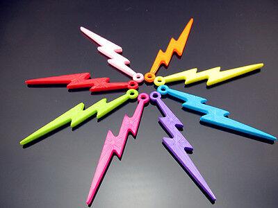 FREE NWT 50PCS bulk Mixed colors Acrylic Lightning Pendants Charms Beads 57mm