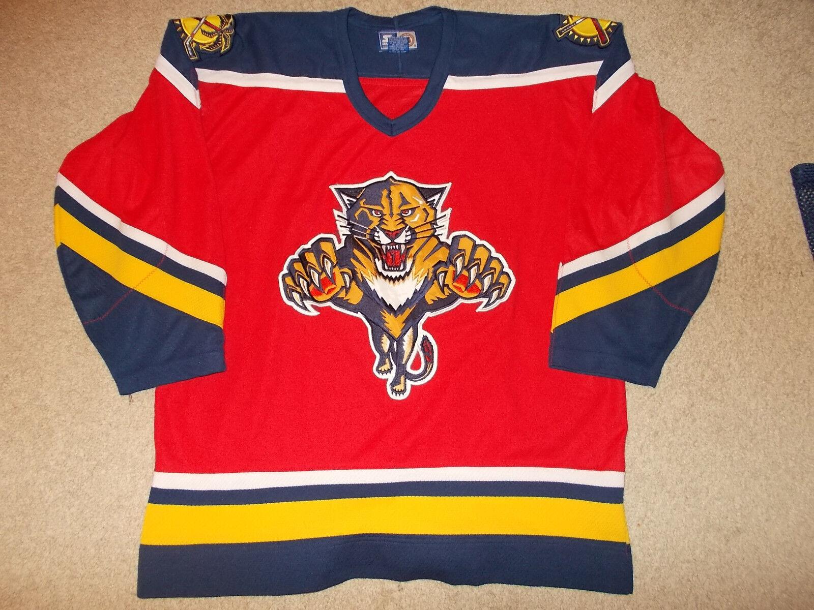 Vtg-1990s Florida Panthers Starter Marca NHL Camiseta Hockey