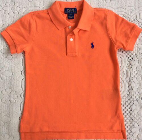 New Ralph Lauren Boys Polo-shirt 7T//7 Years Orange