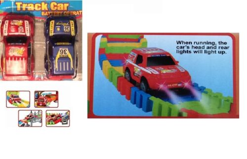 Flexible enfants voiture track set 257 pcs jeu de course set led fun voiture jouet automobile gratuite