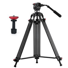 JieYang Pro Heavy Duty Video Camera Tripod Fluid Pan Head with Handle Case