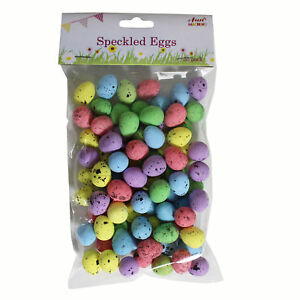 80-Small-Speckled-Easter-Eggs-Kids-Children-039-s-Mini-Craft-Hunt-Party-Decoration