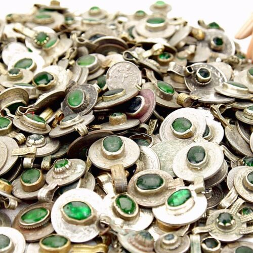 GREEN Color 60 real Jeweled COINS Tribal BellyDance Kuchi Tribe