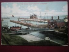 POSTCARD SUFFOLK LOWESTOFT - THE BRIDGE & HARBOUR C1905