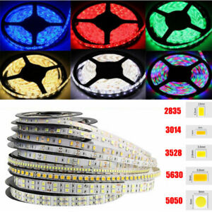 16-4ft-3528-2835-3014-5050-5054-5630-5630-7020-SMD-LED-Strip-Light-Flexible-12V