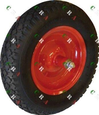 ruota cariola completa 3.50-8 copertone pneumatico cameradaria cerchio carrell