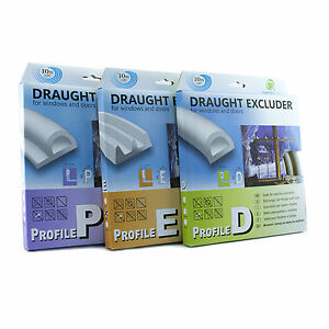 D-E-P-Draught-Excluder-Self-Adhesive-Rubber-Door-Window-Seal-Strip-Roll-Foam