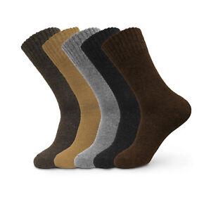 Fashion Mens Super Warm Heavy Thermal Merino Wool Winter Solid Socks One Size