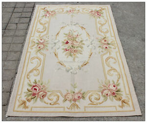 Image Is Loading 3X5 Pastel Aubusson Area Rug LIGHT GREY GRAY