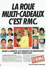 PUBLICITE ADVERTISING 037  1988  Radio RMC Monte Carlo roue mul cadeaux Dorothée