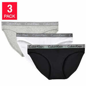 76caf792a Calvin Klein Ladies' Bikini 3-pack Underwear Panties White/Grey ...