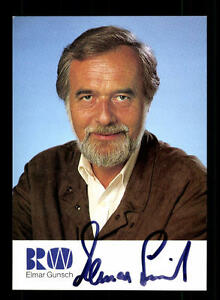 Elmar Gunsch Autogrammkarte Original Signiert # Bc 82477 Moderate Kosten Autogramme & Autographen Sammeln & Seltenes