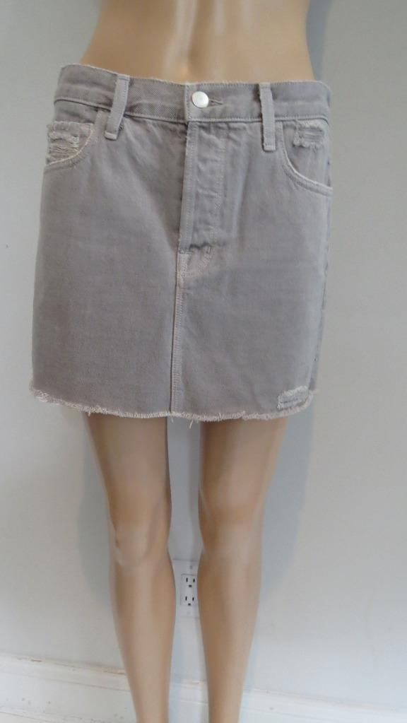 NWOT J. Brand Pale Ash Bonny Denim Button Fly Mini Skirt Size 24