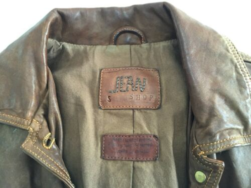 Jean Small Brown Jacket Leather Shop Womens gwqrga