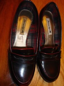 0acd8bc08a1 Image is loading AMERICAN-EAGLE-Ladies-Block-Heel-Penny-Loafers-Size-