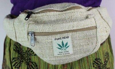 Backpack Hemp THC free Made in Nepal Travel Bag Hippie Rucksack School College Natural Boys Girls Eco-Friendly THC free Handmade