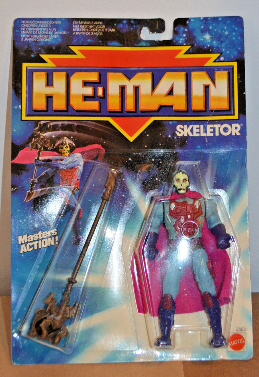 HE-MAN NEW ADVENTURES SKELETOR EURO CocheD
