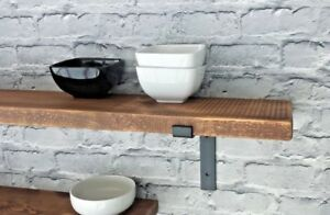 Shelf Rustic Chunky Industrial Handmade Shelves Metal Brackets/Solid Wood