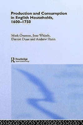 Production and Consumption in English Households, 1600-1750-ExLibrary