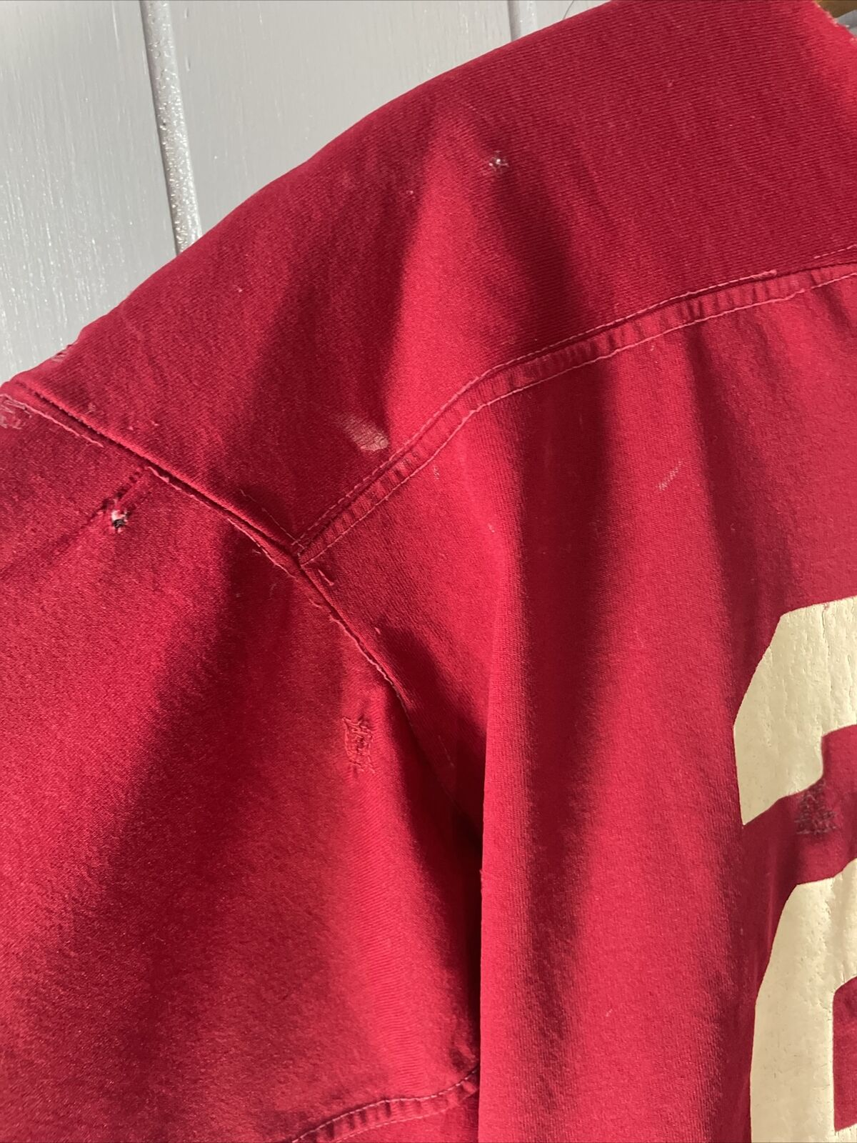 VTG 70's Russell Athletic Red Football Jersey #21… - image 5