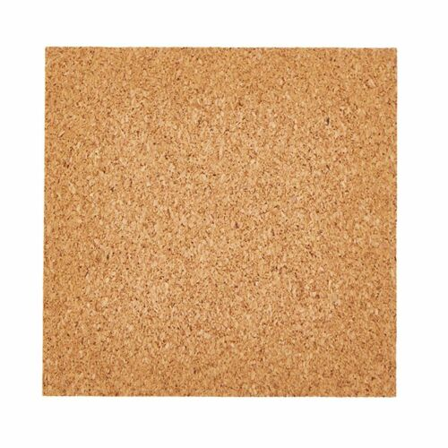 50//80Pcs 4x4inch Self-Adhesive Cork Squares Round Backing Sheets Tiles Coasters