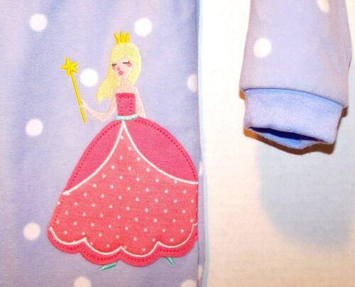 PJs 24 Mo 2 T New CARTERS 1pc Girls FLEECE Zip FOOTED Princess PAJAMAS 6 Mo