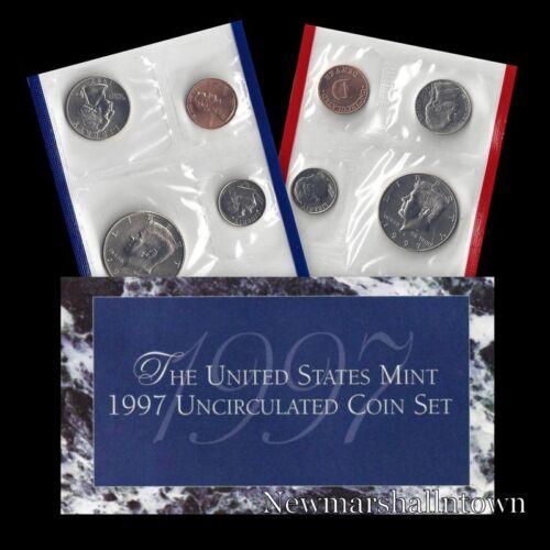 Mint Set ~ Kennedy Washington Roosevelt Jefferson Lincoln US Coins 1997 P+D U.S