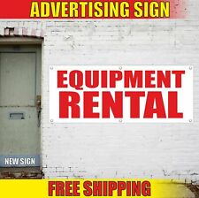 Equipment Rental Advertising Banner Vinyl Mesh Decal Sign Gear Facility Machine