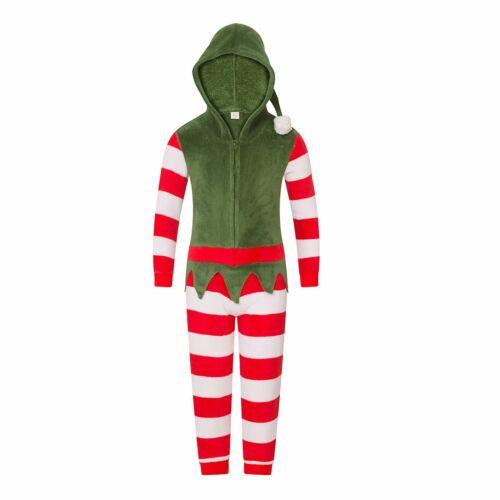 Family Matching Christmas Elf All In One Pyjamas Mens//Womens//Boys//Girls Pyjama