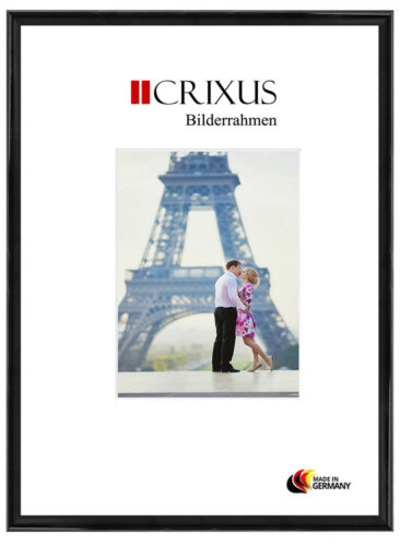 Crixus23 Real Wood Picture Frame Black High Gloss Photo Poster Frame B/_22