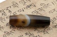 DZI LUMINEUX AGATE PERLE TIBETAINE-HIMALAYAN BEADS - 6256-D3
