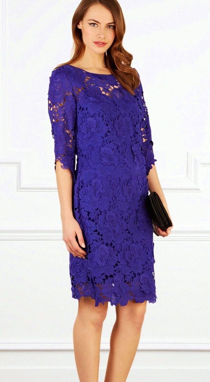 COAST VIVIANNA lila SHEER LACE SILK TRIM DRESS Größe 8 TWICE  STUNNING