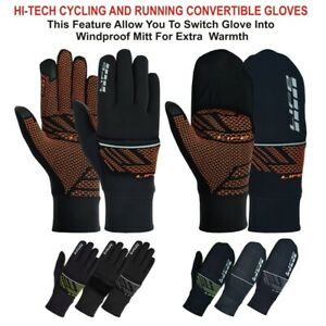 LIFE Convertible Running Gloves Cycling race convertible flip gloves