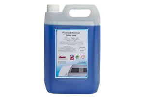 5L BLUE CHEMICAL Portable TOILET fluid Cleaner FLUSH for boats,caravans,camping