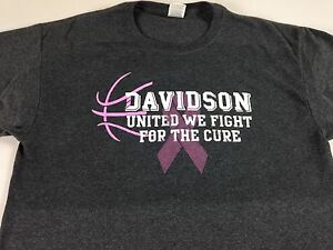 Davidson-Wildcats-Cancer-T-Shirt-Steph-Curry-Alumni-Adult-SZ-M-L-Fight-For-Cure