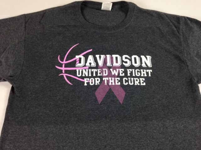Davidson Wildcats Cancer T-Shirt Steph Curry Alumni Adult SZ M/L Fight For Cure