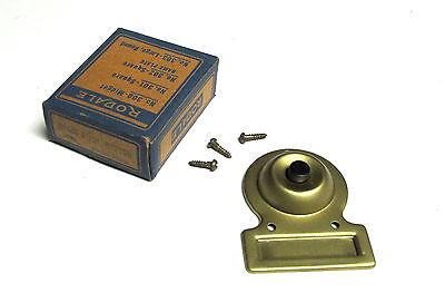 * NIB  RODALE Vintage Bakelite Push Button Door Bell VM-36C Brass Cat# 312