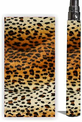 Battery Sticker Skins Fits eGo/Itaste CLK/ Types Vapor Mod Pens Wrap -LEOPARD #2