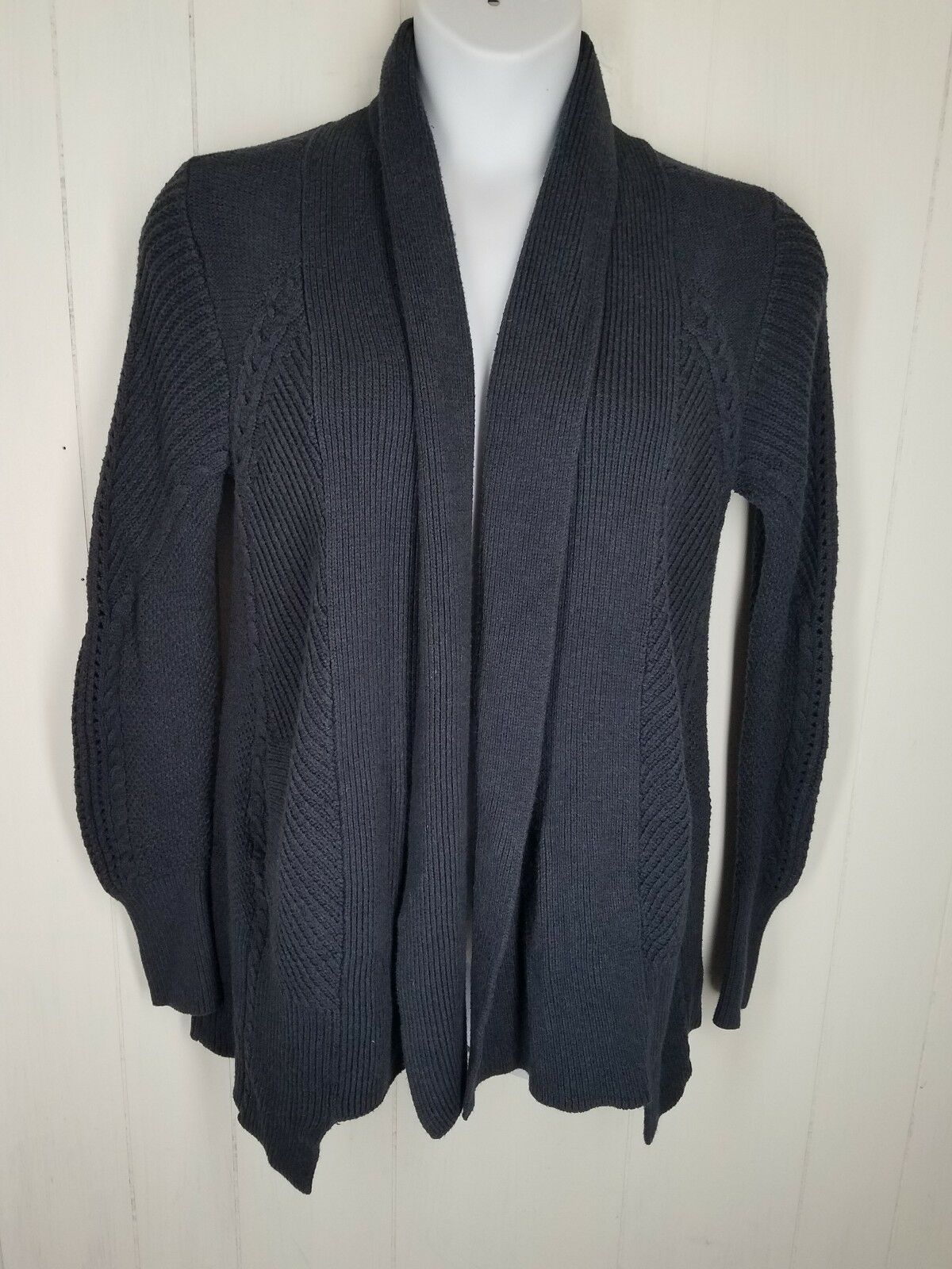 Cabi Medium Country Side Sweater Womens Cardigan Navy bluee 3014 Navy bluee Cotton