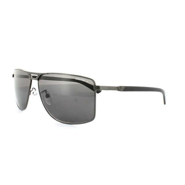 ea71aaa1a7 Frequently bought together. Police Sunglasses S8848 Flash 1 584P Shiny  Gunmetal Grey Grey Polarized
