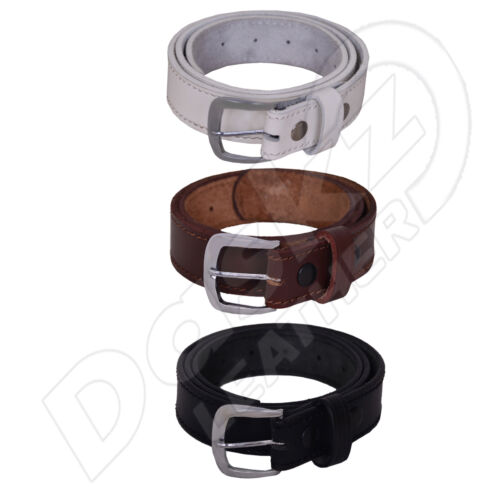 Brown//White 30/'/' to 64/'/' 100/% GENUINE MEN/'S LEATHER BELT Black