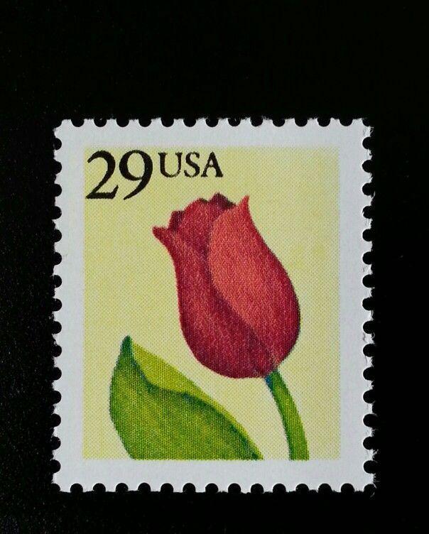 1991 29c Tulip, Perforated Scott 2524a Mint F/VF NH