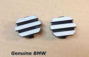 Pair Set of 2 Engine Cylinder Valve Cover Trim Caps Set For BMW M54 E39 E46 E53