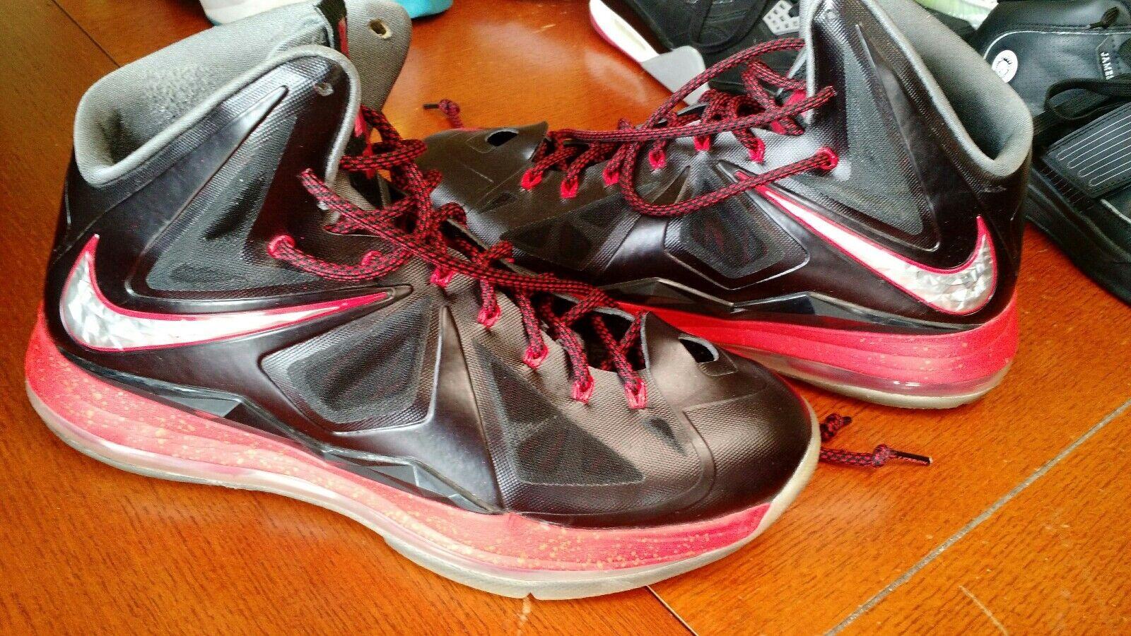 Nike lebron 10 x   sport pack sz 542244-00 senza pizzo serrature.