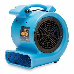 Soleaire Max Storm 1/2 HP Air Mover Carpet Dryer Blower Floor Fan, Blue
