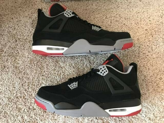 Red 2012 Bred 10 4 Nike Black Size Retro Air Jordan Iv D9YEH2IW