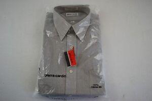 Pierre-Cardin-Men-039-s-Regular-Long-Sleeve-Dress-Shirt-Size-16-32-33-Gray