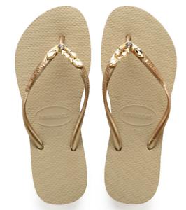 a2ab0edd7a1 Havaianas Women`s Flip Flops Slim Lux Sandal Sand Grey Gold ...